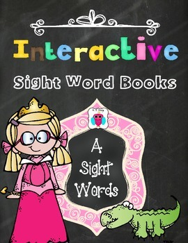 Interactive Sight Word Books- Letter A Words