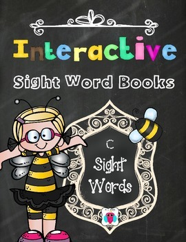 Interactive Sight Word Books- Letter C Words