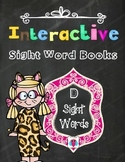 Interactive Sight Word Books- Letter D Words