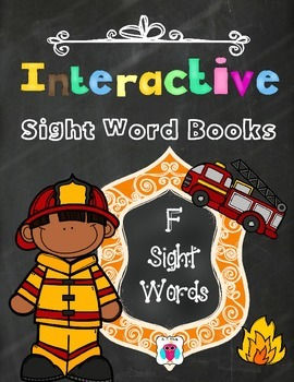 Interactive Sight Word Books- Letter F Words