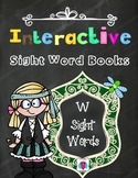 Interactive Sight Word Books- Letter W Words