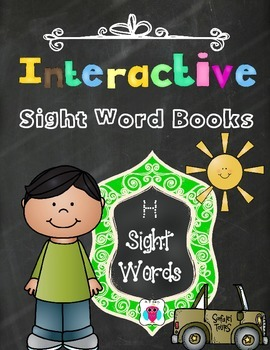 Interactive Sight Word Books- Letter H Words