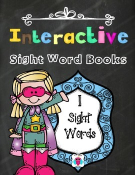 Interactive Sight Word Books- Letter I Words