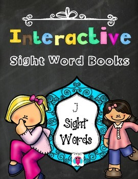 Interactive Sight Word Books- Letter J Words