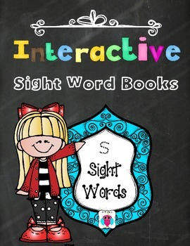 Interactive Sight Word Books- Letter S Words