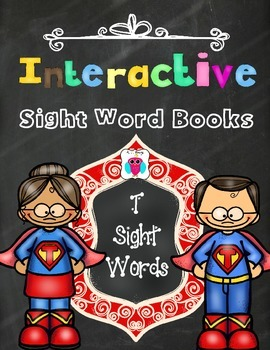 Interactive Sight Word Books- Letter T Words