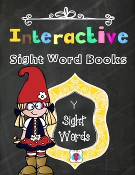Interactive Sight Word Books- Letter Y Words