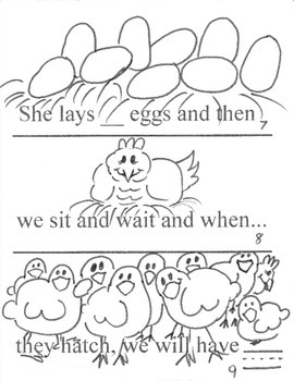 Interactive Sight Word Coloring Book