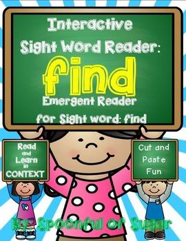 Interactive Sight Word Emergent Reader: SIght Word FIND