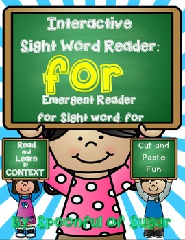 Interactive Sight Word Emergent Reader: SIght Word FOR