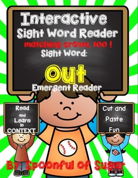 Interactive Sight Word Emergent Reader: SIght Word OUT