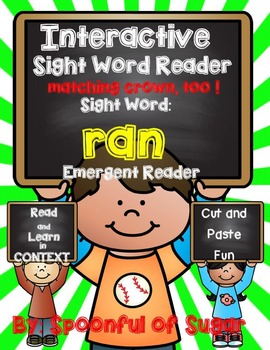 Interactive Sight Word Emergent Reader: SIght Word RAN