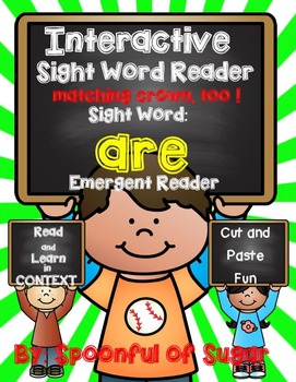 Interactive Sight Word Emergent Reader: Sight Word ARE