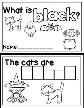 Interactive Sight Word Emergent Reader: Sight Word BLACK