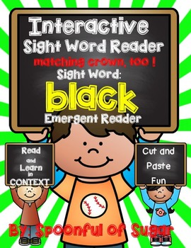 Interactive Sight Word Emergent Reader: Sight Word BLACK