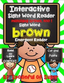 Interactive Sight Word Emergent Reader: Sight Word BROWN