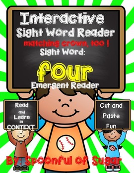 Interactive Sight Word Emergent Reader: Sight Word FOUR