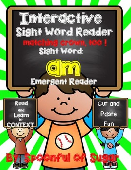 Interactive Sight Word Emergent Reader: Sight word AM