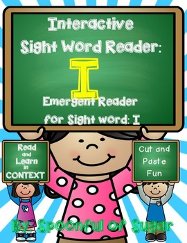 Interactive Sight Word Emergent Reader and Crown: Sight Word I