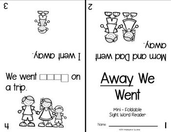 Sight Word: AWAY - Interactive Flap Book, Reader, and More!