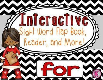 Sight Word: FOR - Interactive Flap Book, Reader, and More!