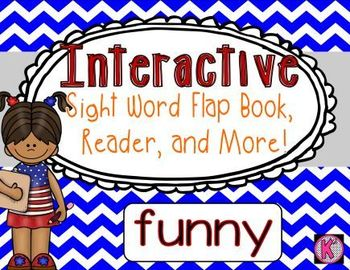 Sight Word: FUNNY  - Interactive Flap Book, Reader, and More!
