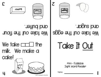 Sight Word: OUT - Interactive Flap Book, Reader, and More!