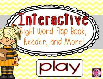 Sight Word: PLAY - Interactive Flap Book, Reader, and More!