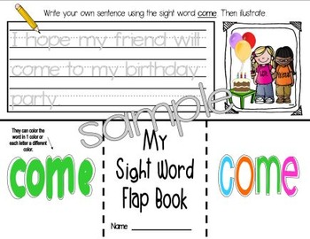 Sight Word: RED - Interactive Flap Book, Reader, and More!