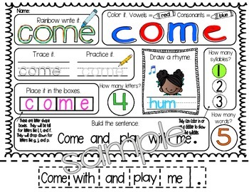 Sight Word: SAY - Interactive Flap Book, Reader, and More!