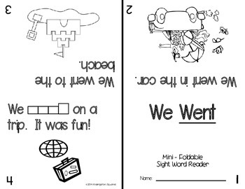 Sight Word: WENT - Interactive Flap Book, Reader, and More!