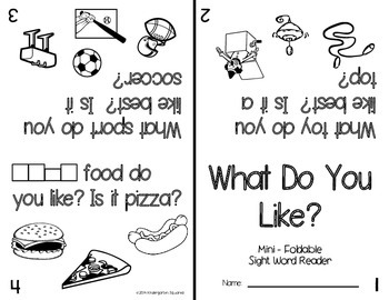 Sight Word: WHAT - Interactive Flap Book, Reader, and More!