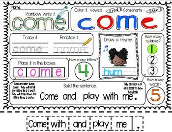 Sight Words: Interactive Flap Books, Readers, & More!  BUNDLE 1:Pre-Primer Words
