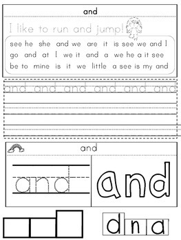 Interactive Sight Word Fry 1-20