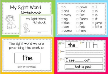 Sight Word Journal (Pre-Primer Set 1)