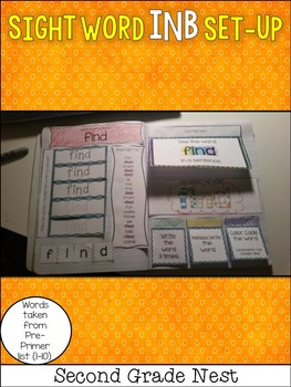 Sight Words Interactive Notebook