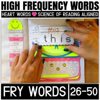 Sight Word Activities: Interactive Notebook (Fry's 26-50)