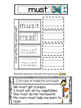 Interactive Sight Word Notebook Primer Words!