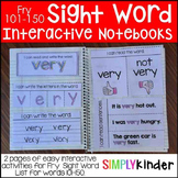 Interactive Sight Word Notebooks - Fry 101-150