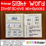 Interactive Sight Word Notebooks - Primer