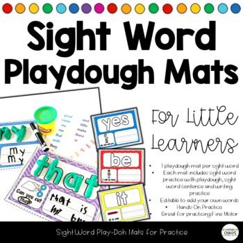 Interactive Sight Word Playdoh Mats