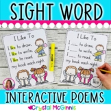 Interactive Sight Word Poems for Young Learners (Read, Write, Sequence, Respond)