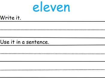 Interactive Sight Word Practice