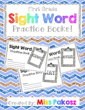 NO PREP Interactive Sight Word Practice Books - Grade 1 Edition with FREEBIE