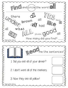 NO PREP Interactive Sight Word Practice Book - ALL