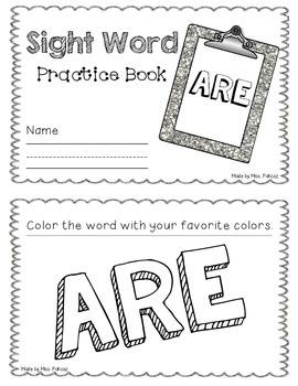 NO PREP Interactive Sight Word Practice Book - ARE