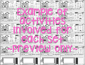 Interactive Sight Word Practice-GROWING BUNDLE (over 300 sight words included)