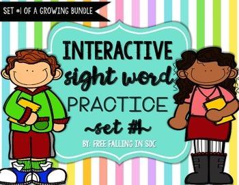 Interactive Sight Word Practice-SET #1 (activities, games,