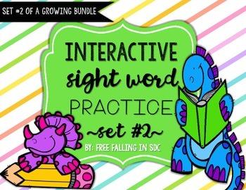 Interactive Sight Word Practice-SET #2 (activities, games,