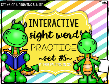 Interactive Sight Word Practice-SET #5 (activities, games, and much more)